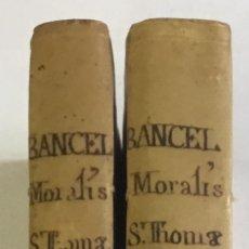 Libros antiguos: MORALIS D. THOMAE AQUINATIS DOCTORIS ANGELICI ORDINIS..... VENETIIS 1757. 2 TOMOS. PERGAMINO.. Lote 148044930