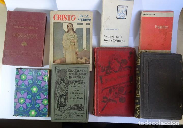 LOTE DE 8 ANTIGUOS LIBROS RELIGIOSOS, VER FOTOS (Libros Antiguos, Raros y Curiosos - Religión)
