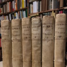Libros antiguos: SUMMA THEOLOGICA () CODICES A FRANCISCO GARCIA. SANTO TOMÁS DE AQUINO MADRID JOSEPH DOBLADO 1782. Lote 148222634