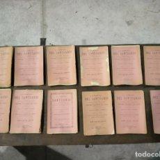Libros antiguos: LOTE O COLECCIÓN DE 12 REVISTAS LA LÁMPARA DEL SANTUARIO - AÑO 1893 - COMPLETO MENOS OCTUBRE - . Lote 148561498