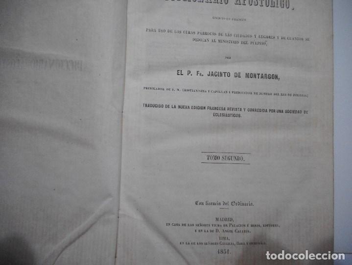 Libros antiguos: JACINTO DE MONTARGON Diccionario apostólico.Tomo II Y92180 - Foto 2 - 148916398