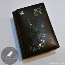 Libros antiguos: LIBRO RELIGIOSO MISAL DEVOCIONARIO 1884 EBONITA INCRUSTACION NÁCAR PLATA, VICTORIANO, ANTIGUO S XIX. Lote 117484703