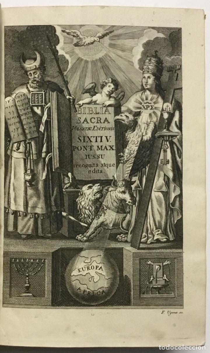 BIBLIA SACRA VULGATAE EDITIONIS, SIXTI V. ET CLEMENTIS VIII. (Libros Antiguos, Raros y Curiosos - Religión)