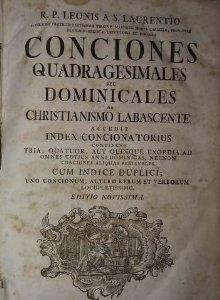 1733 Conciones Quadragesimales Seu Dominicales De Christianismo Labascente