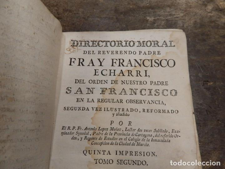 Libros antiguos: 2 antiguos libros de fray francisco echevarry 2 tomos 1778 - Foto 1 - 150836390