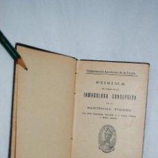 Libri antichi: PLISIMA EN HONOR DE LA INMACULADA .. Lote 151386010