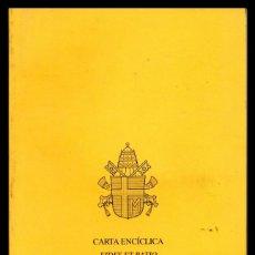Libros antiguos: XX CARTA ENCICLICA DEL SUMO PONTIFICE.. Lote 151437618