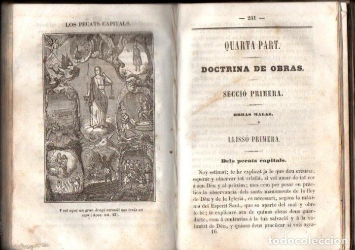 Libros antiguos: ANTON CLARET : CATECISME DE LA DOCTRINA CRISTIANA (1850) CON GRABADOS - Foto 3 - 151488810