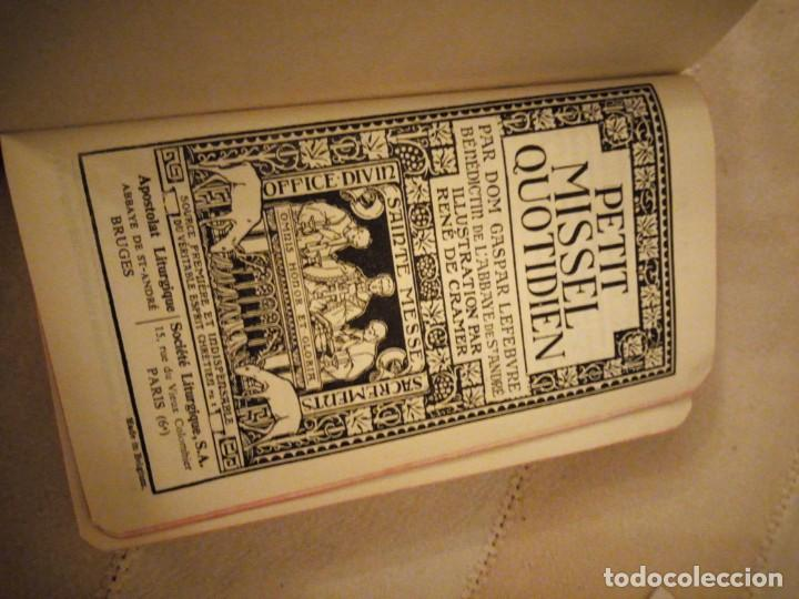 Libros antiguos: petit missel quotidien 1951,con estampas incluidas y esquelas,frances. - Foto 3 - 151883618