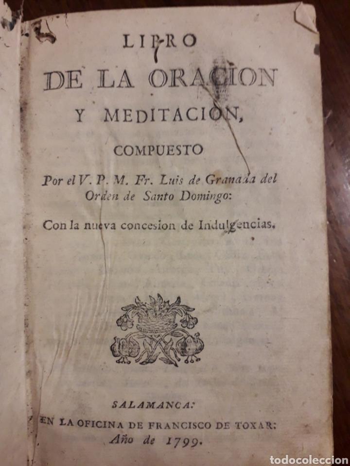 Libros antiguos: ORACIÓN Y MEDITACIÓN - Foto 2 - 152034530