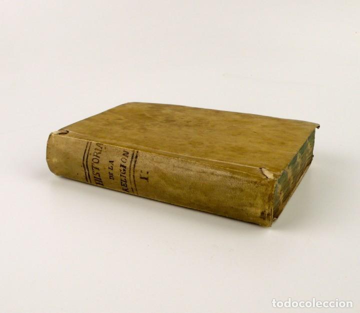 COMPENDIO HISTÓRICO DE LA RELIGIÓN - LIBRO DE PERGAMINO - AÑO 1.784 (Libros Antiguos, Raros y Curiosos - Religión)
