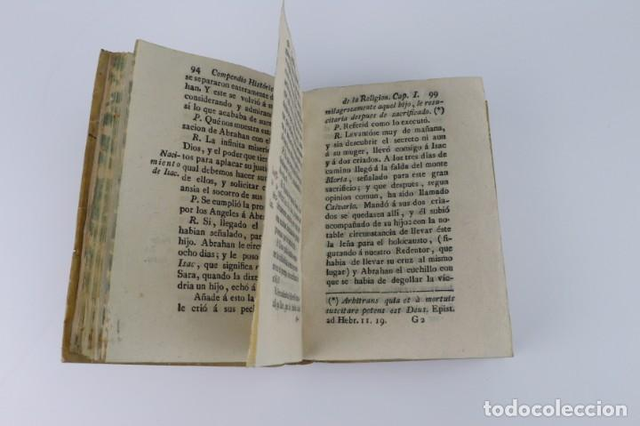 Libros antiguos: Compendio Histórico de la Religión - Libro de pergamino - año 1.784 - Foto 4 - 152053886
