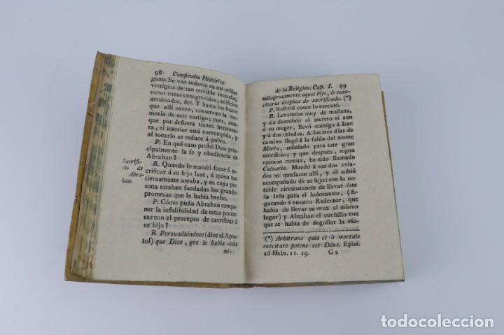 Libros antiguos: Compendio Histórico de la Religión - Libro de pergamino - año 1.784 - Foto 5 - 152053886