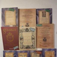 Libros antiguos: 10 LIBROS FACSÍMILES RELATIVOS A LA SEMANA SANTA DE SEVILLA. COFRADÍAS GRAN PODER NAZARENOS. Lote 159554892