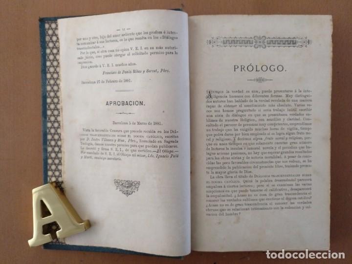 Libros antiguos: EL DOGMA CATOLICO ISIDRO VILASECA Y RIUS TIPOGRAFIA CATOLICA BARCELONA 1881 - Foto 3 - 152746302