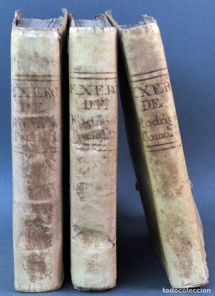 EXERCICIO PERFECCIÓN Y VIRTUDES CHRISTIANAS PADRE ALONSO RODRÍGUEZ 3 TOMOS PABLO CAMPINS 1758 (Libros Antiguos, Raros y Curiosos - Religión)