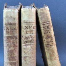 Libros antiguos: EXERCICIO PERFECCIÓN Y VIRTUDES CHRISTIANAS PADRE ALONSO RODRÍGUEZ 3 TOMOS PABLO CAMPINS 1758. Lote 152760850