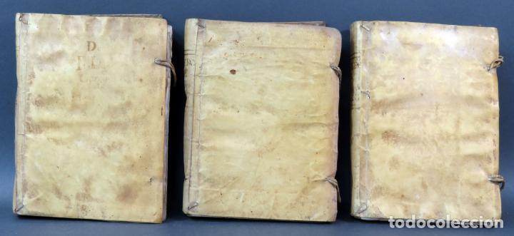 Libros antiguos: Exercicio Perfección y Virtudes Christianas Padre Alonso Rodríguez 3 tomos Pablo Campins 1758 - Foto 2 - 152760850