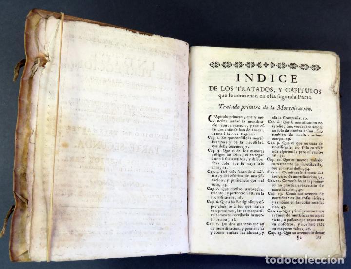 Libros antiguos: Exercicio Perfección y Virtudes Christianas Padre Alonso Rodríguez 3 tomos Pablo Campins 1758 - Foto 6 - 152760850