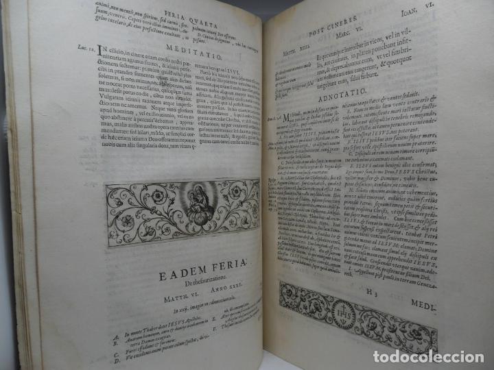 Libros antiguos: Biblia Natalis, Adnotationes et meditationes in Evangelia, Jerónimo Nadal, Amberes, 1595, 2ª edición - Foto 2 - 152792786