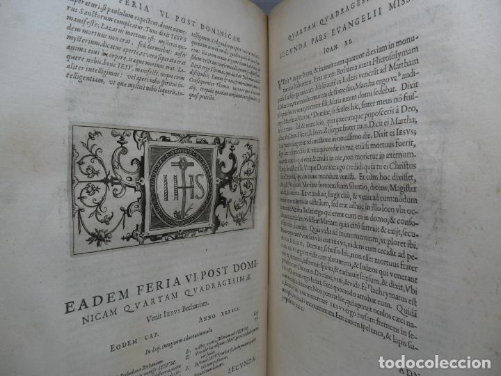 Libros antiguos: Biblia Natalis, Adnotationes et meditationes in Evangelia, Jerónimo Nadal, Amberes, 1595, 2ª edición - Foto 4 - 152792786
