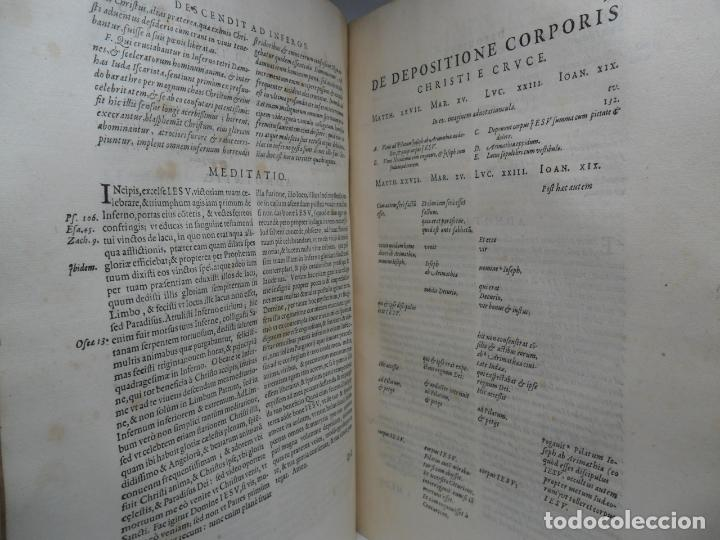 Libros antiguos: Biblia Natalis, Adnotationes et meditationes in Evangelia, Jerónimo Nadal, Amberes, 1595, 2ª edición - Foto 6 - 152792786