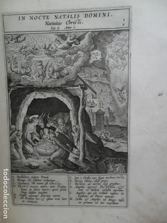 Libros antiguos: Biblia Natalis, Adnotationes et meditationes in Evangelia, Jerónimo Nadal, Amberes, 1595, 2ª edición - Foto 7 - 152792786