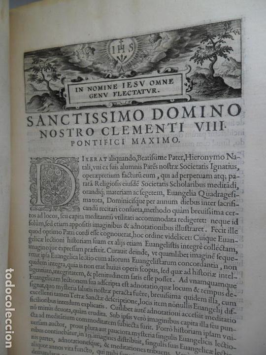Libros antiguos: Biblia Natalis, Adnotationes et meditationes in Evangelia, Jerónimo Nadal, Amberes, 1595, 2ª edición - Foto 11 - 152792786