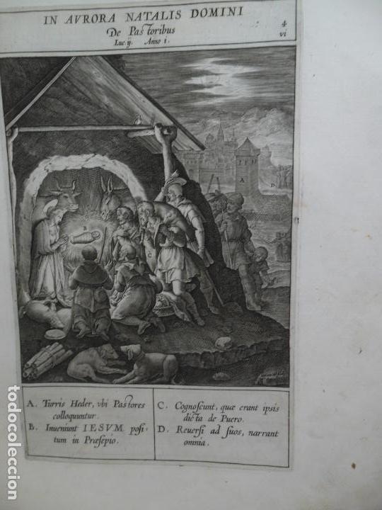 Libros antiguos: Biblia Natalis, Adnotationes et meditationes in Evangelia, Jerónimo Nadal, Amberes, 1595, 2ª edición - Foto 13 - 152792786