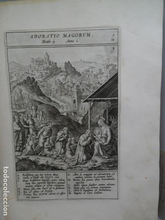 Libros antiguos: Biblia Natalis, Adnotationes et meditationes in Evangelia, Jerónimo Nadal, Amberes, 1595, 2ª edición - Foto 14 - 152792786