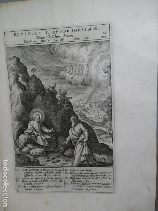Libros antiguos: Biblia Natalis, Adnotationes et meditationes in Evangelia, Jerónimo Nadal, Amberes, 1595, 2ª edición - Foto 15 - 152792786