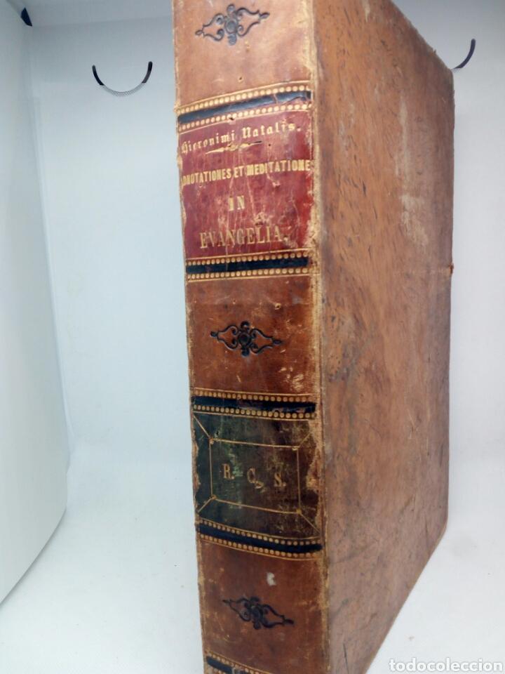 Libros antiguos: Biblia Natalis, Adnotationes et meditationes in Evangelia, Jerónimo Nadal, Amberes, 1595, 2ª edición - Foto 23 - 152792786
