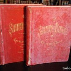 Libros antiguos: LA SAINTE BIBLE SELON LA VULGATE - 2 TOMOS - GRAN FOLIO - ILUSTRACIONES DE GUSTAVE DORÉ - TOURS -. Lote 152837478