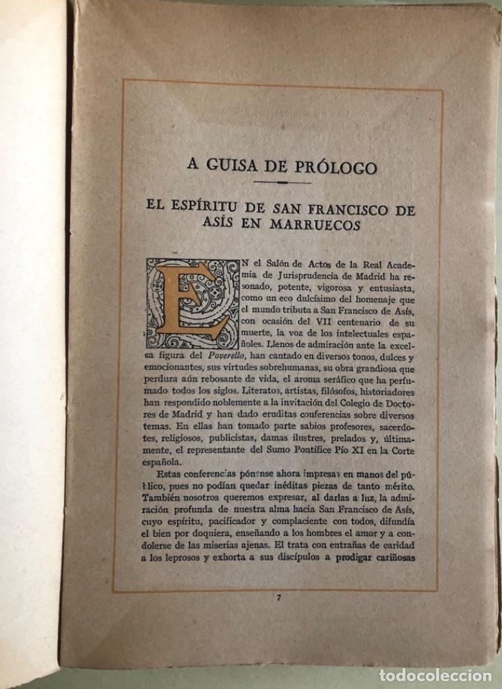 Libros antiguos: RELIGION- SAN FRANCISCO DE ASIS- CURSO CONFERENCIAS COLEGIO DE DOCTORES- MADRID 1.927 - Foto 3 - 153217610