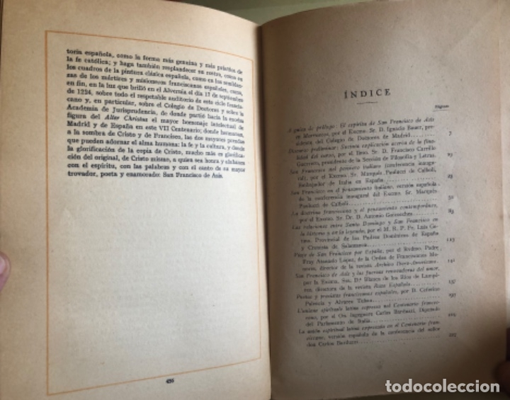 Libros antiguos: RELIGION- SAN FRANCISCO DE ASIS- CURSO CONFERENCIAS COLEGIO DE DOCTORES- MADRID 1.927 - Foto 5 - 153217610