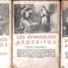 Libros antiguos: EVANGELIOS APÓCRIFOS - TRES TOMOS (BERGUA, 1934). Lote 153434289
