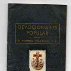 Libros antiguos: DEVOCIONARIO POPULAR CON ESTAMPITA P. VILARIÑO BILBAO 1953. Lote 153941002