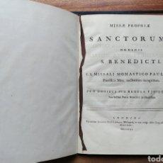 Libros antiguos: MISSAE PROPRIAE SANCTORUM ORDINIS S.BENEDICTI EX MISSALI MONASTICO PAULI V. Lote 153959181