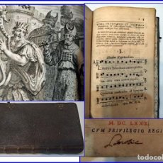 Libros antiguos: AÑO 1680: BREVIARIO ILUSTRADO DEL SIGLO XVII. CON EX-LIBRIS Y PARTITURAS. JOYA BIBLIOGRÁFICA.. Lote 153977346