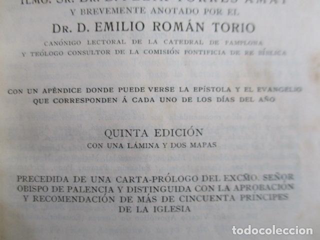 Libros antiguos: NUEVO TESTAMENTO DE NUESTRO SEÑOR JESUCRISTO - FÉLIX TORRES AMAT - 1922 - Foto 8 - 154453074