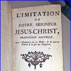 Libros antiguos: AÑO 1766: IMITACIÓN DE CRISTO. LIBRO EN MINIATURA DEL SIGLO XVIII. 13 CM.. Lote 154558622