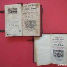 Libros antiguos: OFICIO DE LA SANTISIMA VIRGEN MARIA.-LIBROS.-RELIGION.-GRABADOS.-CONCILIO DE TRENTO.-AÑOS 1774-1805.. Lote 155015118