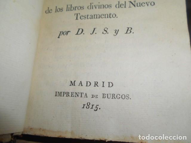 Libros antiguos: 1815 / MORAL DE JESUCRISTO Y DE LOS APOSTOLES,TOMADA DE LOS LIBROS DIVINOS DEL NUEVO TESTAMENTO - Foto 6 - 155015526