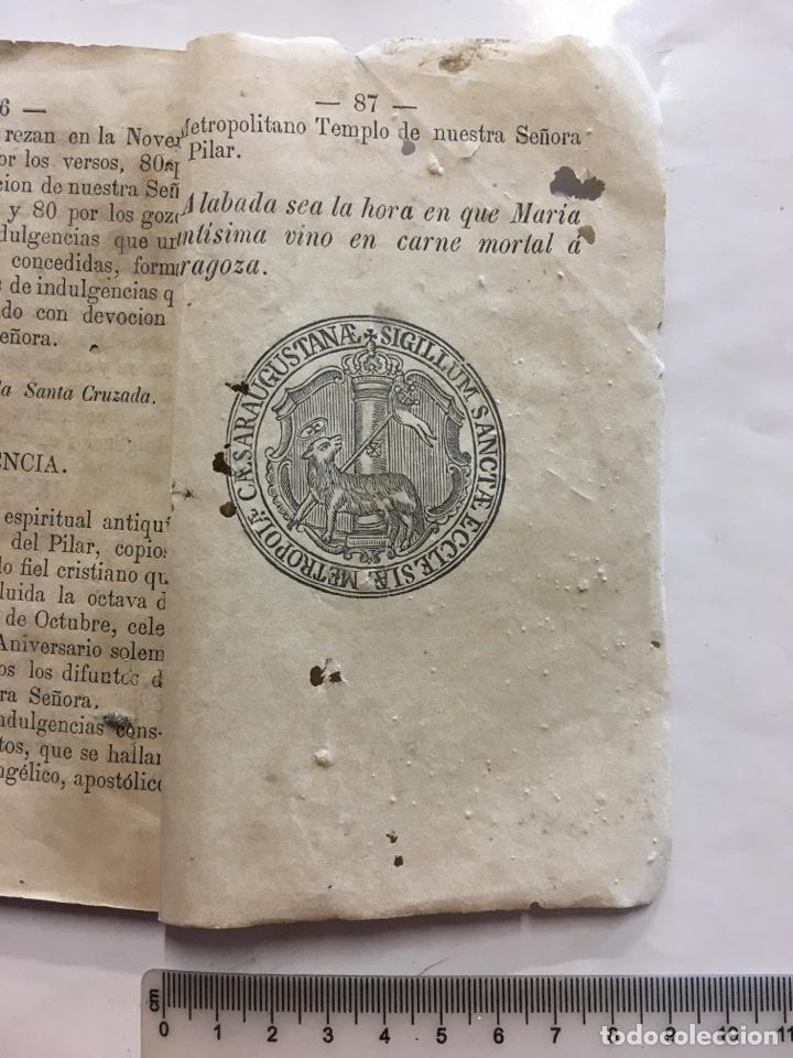 Libros antiguos: ESPIRITUAL NOVENARIO A LA REINA DE LOS ÁNGELES MARIA SANTÍSIMA DEL PILAR DE ZARAGOZA, 1878. - Foto 2 - 155280354