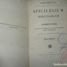 Libros antiguos: SPICILEGIUM CONCIONATORIUM.-( TOMO PRIMA- 1884. Lote 155378570