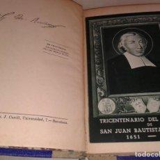 Libros antiguos: VIDA POPULAR DE SAN JUAN BAUTISTA DE LA SALLE 1909. Lote 155666066