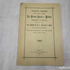 Libros antiguos: ORACION FUNEBRE A DON MARCELO SPINOLA Y MAESTRE, ARZOBISPO SEVILLA, - JOSE ROCA 1906 + INFO. Lote 155698306