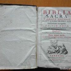 Libros antiguos: BIBLIA SACRA VULGATAE EDITIONIS SIXTI V. & CLEM. VIII...VENETIIS ,APUD NICOLAUM PEZZANA, 1731. Lote 156566286