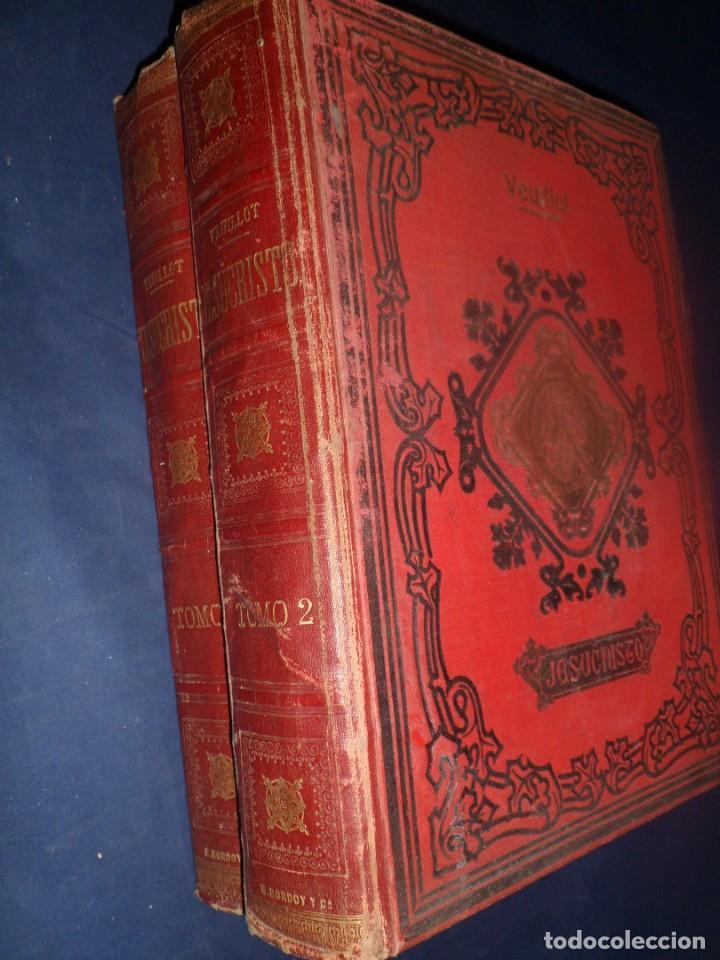 JESUCRISTO. LUIS VEUILLOT. 2 TOMOS. 1881 (Libros Antiguos, Raros y Curiosos - Religión)