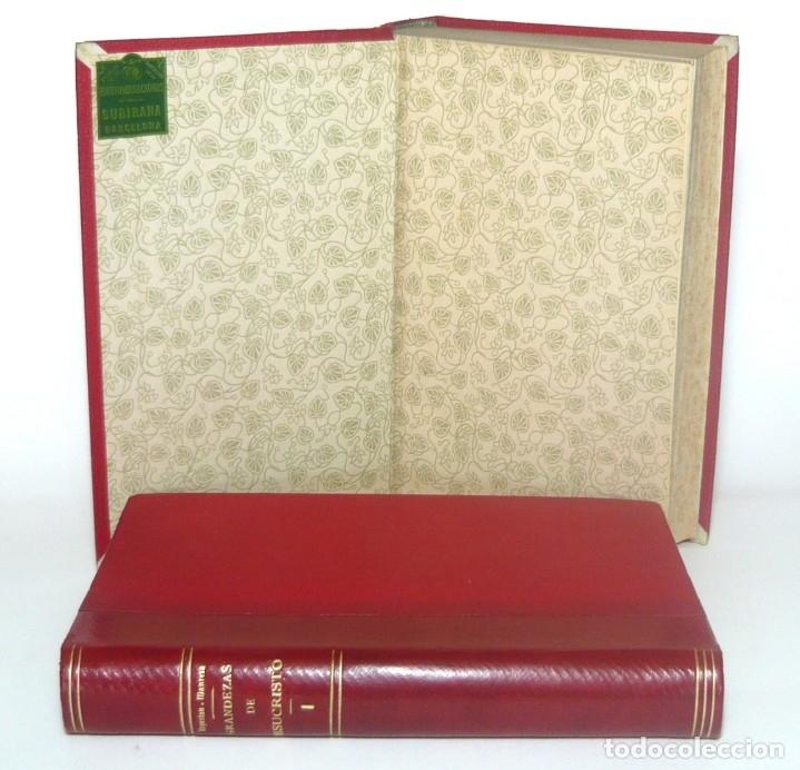 Libros antiguos: 1900 - Consideraciones Teológicas y Espirituales sobre las Grandezas de Jesucristo - 2 Tomos - Piel - Foto 4 - 159602866